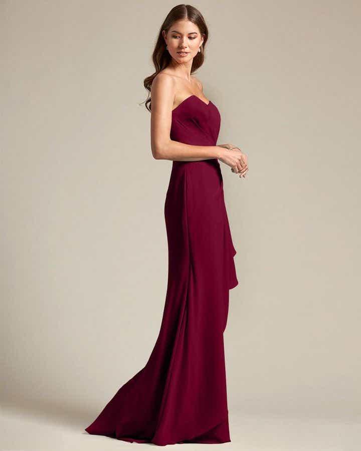 Strapless Sweetheart Maxi Dress - Side